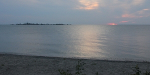 Sunset over Chantry Island