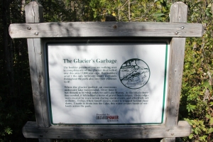 Interpretive board on the Tower Trail