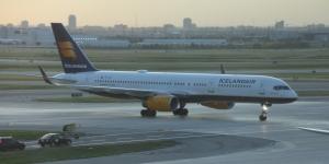 Icelandair B757, TF-FIA, named Herðubreið, arrived at Toronto Airport.
