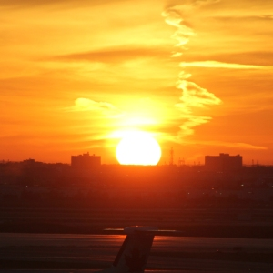 Sunset over Toronto Airport