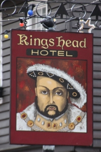 Sign Board of the Kings Head Hotel, Rochester High Street