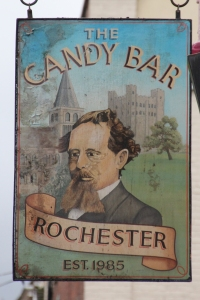 Sign Board for the Candy Bar, Rochester High Street