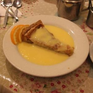 Bakewell Tart with custard