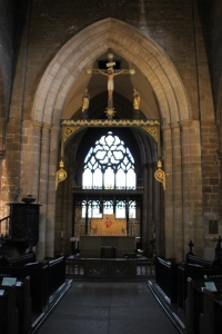 All Saints Altar, with the High Altar and east window behind