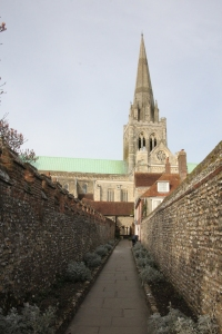 Chichester Cathedral from the south.