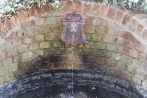 Water feature in Bishops Garden