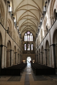 Looking west into the nave from the crossing