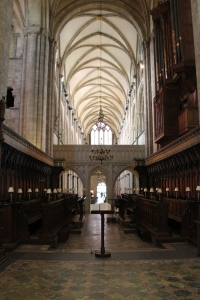 The choir stalls from the High Altar