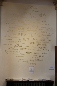 Peace Wall in St Thomas' Chapel