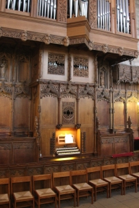 Organ Console of Dunblane Cathedral