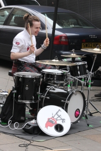 Rollin' Drones drummer in Buchanan Street
