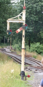 Signal for westbound trains at Llangower