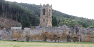 Mount Grace Priory church from the cloister