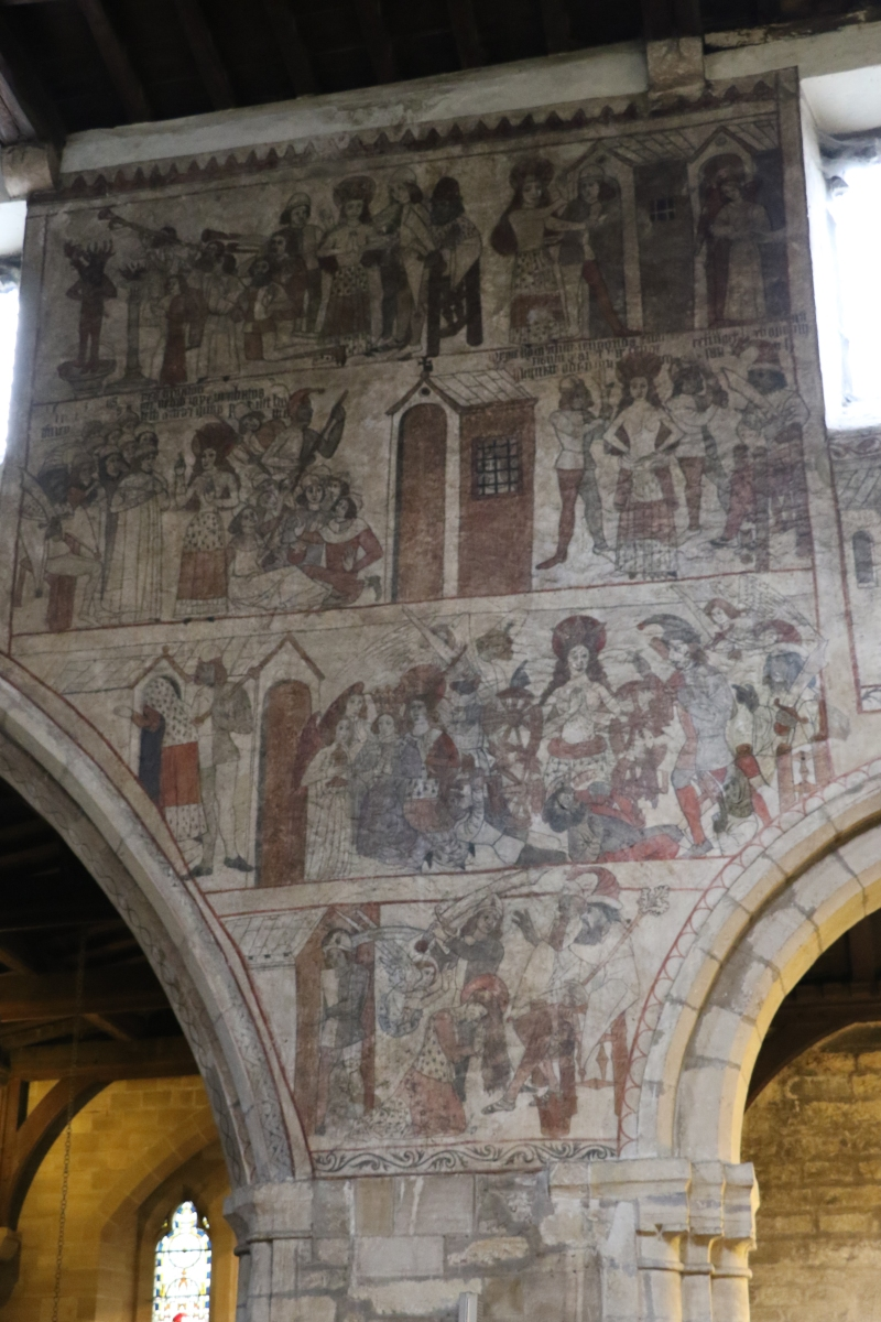 Bible Scenes on the medieval murals