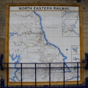 North Eastern Railway network map in Whitby