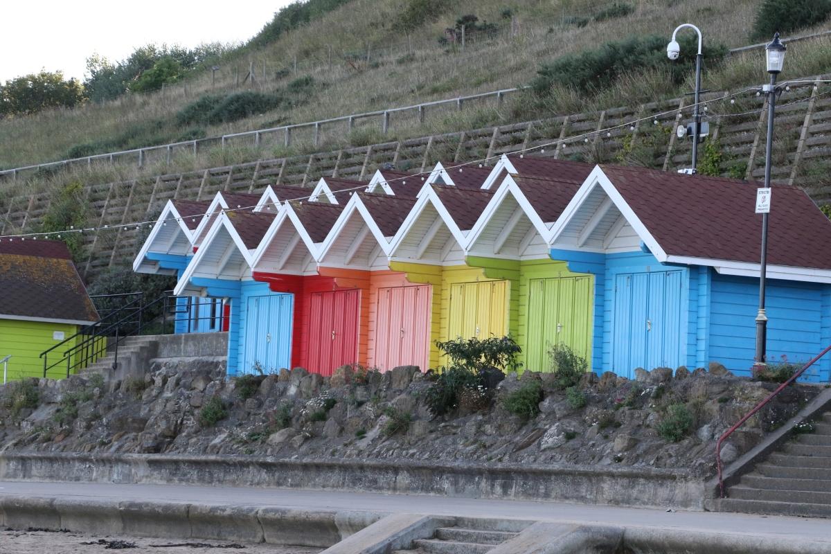 Beach Huts at Scarborough North Bay