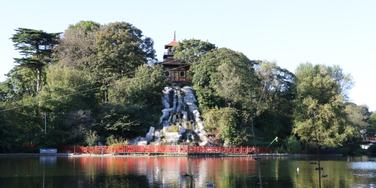 Peasholm Park and island