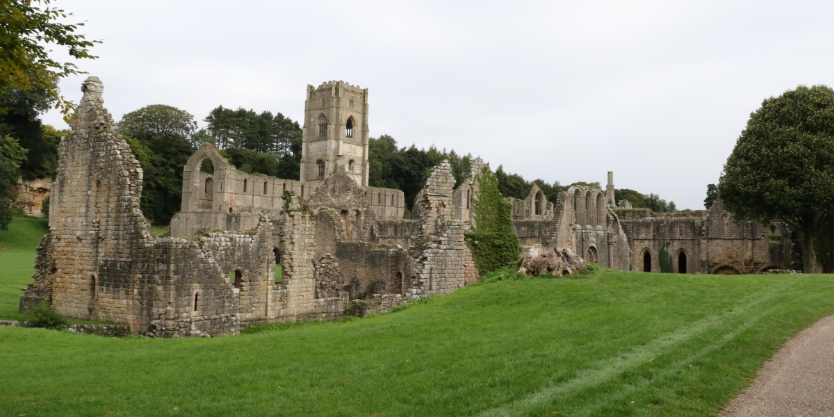 Fountains Abbey from the south west