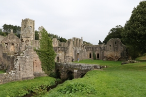 River Skell running through the Abbey complex