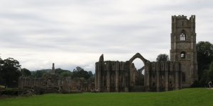 The eastern aspect of Fountains Abbey