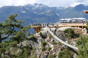 At the Top of the Sea to Sky Gondola, viewing platform and bridge