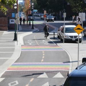 Rainbow Crossings in Victoria Old Town