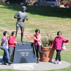Terry Fox Memorial (with Japanese Tourists)
