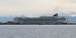 Norwegian Jewel at Victoria Cruise Ship terminal.