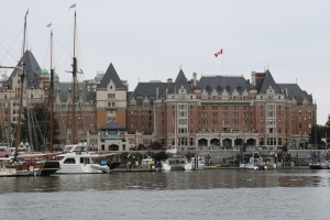 Empress Hotel viewed from a water taxi