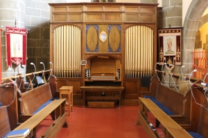 St Christopher Chapel and organ.