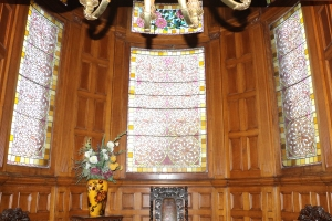Wood Panelling and Stained Glass