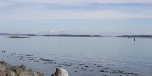 Looking out on Oak Bay Islands Ecological Reserve.