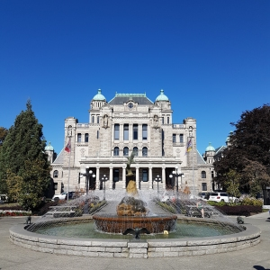 South Side of the BC Legislature and Fountain