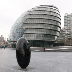 """City Hall, with """"Full Stop Slipstream"""""""