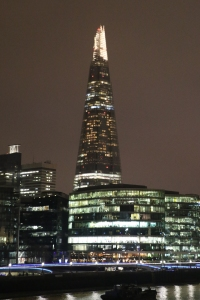 Night Time Shard from Tower Bridge