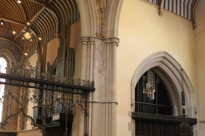 View showing the Organ Casing in the Chancel and lack of casing in the South Transept.