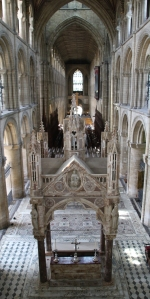 Looking down on the High Altar Canopy