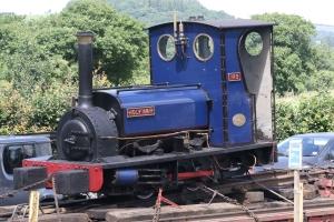 Holy War leaving for the Ffestiniog Railway