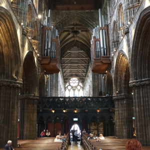 Looking west inside Glasgow Cathedral