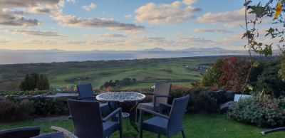 View North from the Plas Restaurant, Harlech