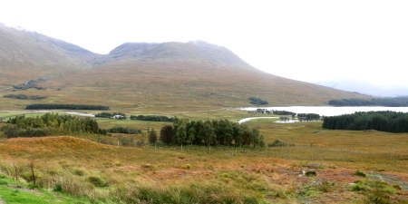 Looking south from Loch Tulla Viewpoint.