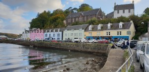 Colourful houses at Portree Harbour