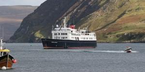 Hebridean Princess in Portree Harbour