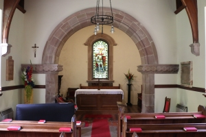 Inside Courthill Chapel