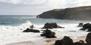 Waves coming into Durness Bay