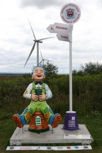 Oor Wullie at Whitelee Wind Farm