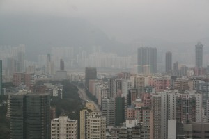View from Langham Place, Mong Kok, on arrival.