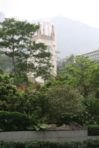 Tower of St John's in the trees