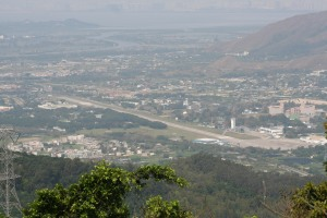 Shek Kong Airport from Tai Mo Shan