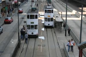 Trams at Sheung Wan